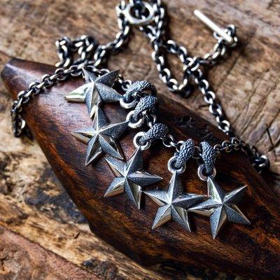 補貨到現貨即發 Jango 日本 手工 銀飾 925銀 導航星 五角星 吊墜