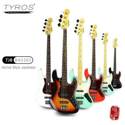 Moonrise Tyros TJB-4主動電路專業電貝司 貝斯 Bass手利[頌音坊97595]