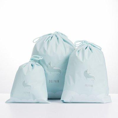 ☜shop go☞ 小 衣服 收納 分類袋 束口袋 密封袋 抽繩袋 整理袋 旅行 鞋袋 卡通抽繩收納袋【A007】