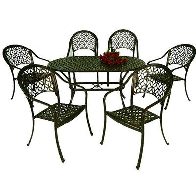 【紅豆戶外休閒傢俱】中國風橢圓桌椅組 一桌六椅 庭園桌椅 咖啡廳桌椅 餐廳桌椅 中庭桌椅 民宿桌椅 農場桌椅 鋁合金桌椅
