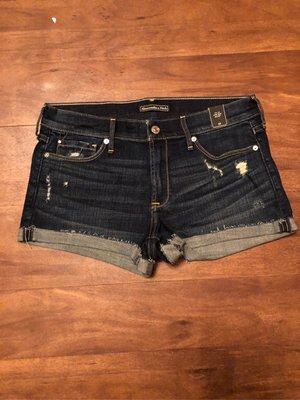 Abercrombie & Fitch A&F 藍色牛仔短褲 保証真品prps rag&bone dl1961Curre