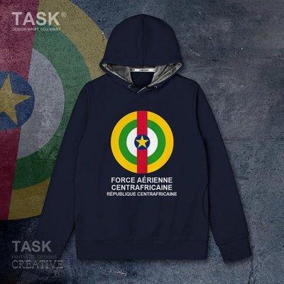 TASK 中非Central Africa空軍加絨連帽衛衣運動休閑外套潮
