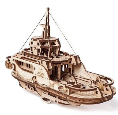 Ugears 西奥多拖船 Tugboat 精緻航海模型 烏克蘭木製精品模型 海上運輸