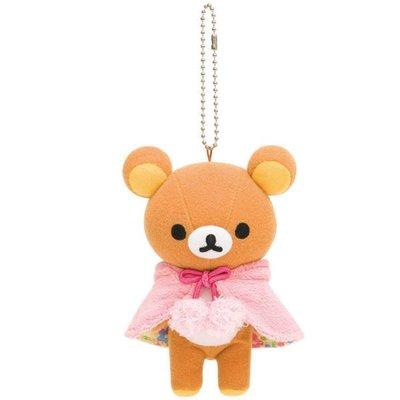 *凱西小舖*日本進口正版SAN-X_Rilakkuma懶懶熊森林系列珠鍊吊飾玩偶