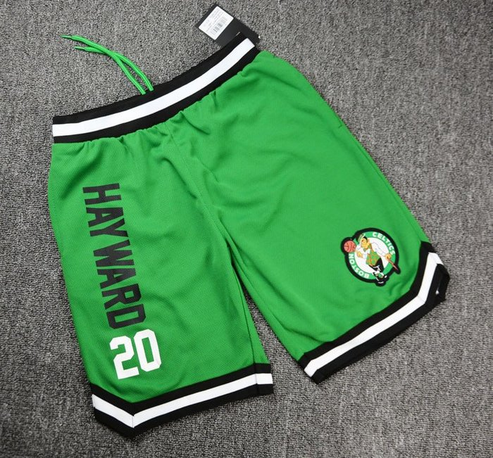 NBA籃球青年短褲 波士頓塞爾提克隊  HAYWARD 口袋版 運動籃球褲 綠色 正版
