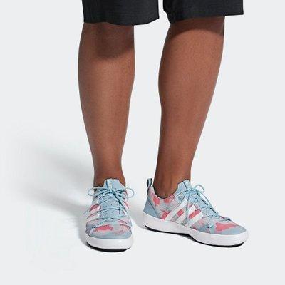 D-BOX  adidas TERREX CC BOAT 灰粉 女鞋 戶外 涉水鞋
