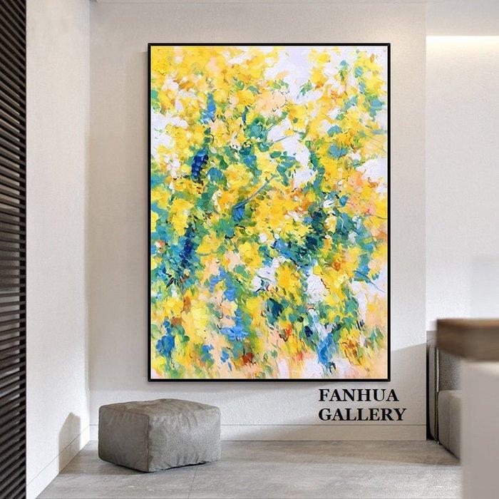 C - R - A - Z - Y - T - O - W - N 純手繪立體筆觸油畫彩色樹葉抽象藝術油畫設計師款裝飾畫商空美學空間原創高檔手繪油畫收藏掛畫
