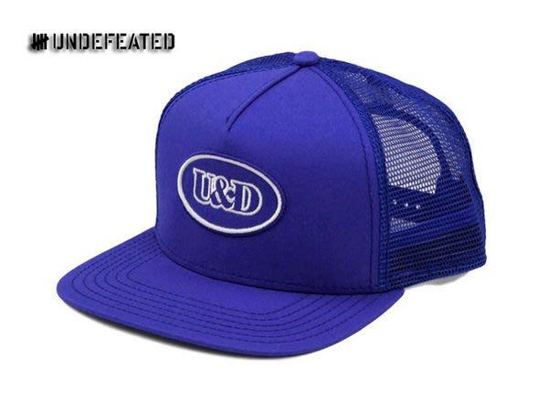 【 超搶手 】全新正品 2012 S/S 夏季最新款 Undefeated U & D Patch Trucker 網帽 藍色