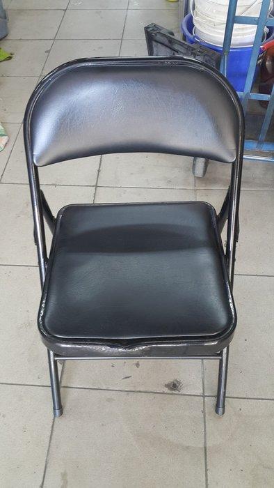 樂居二手家具 全新中古家具賣場 F0126BJJ 皮面折合椅*折疊椅 收納椅 洽談椅 書桌椅 電腦椅 台中二手傢俱買賣