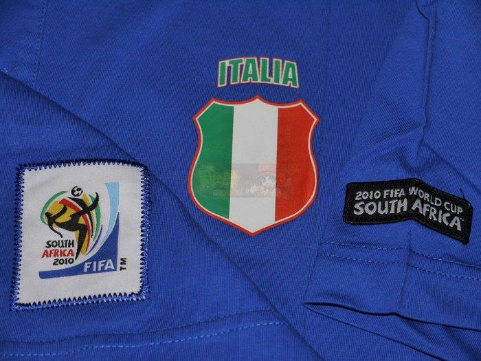 貳拾肆棒球-2010 FIFA 南非世界盃足球賽義大利代表POLO衫 VISA贊助