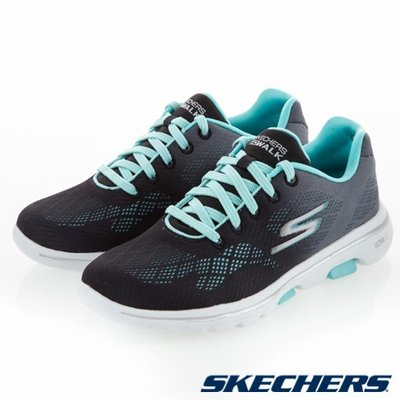 三葉草之家 SKECHERS GO WALK 5 健走 運動 慢跑 舒適 藍黑色 輕量 女鞋 15929BKAQ
