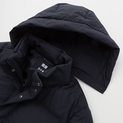 uniqlo男裝-無縫羽絨大衣