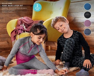 【荳荳物語】德國品牌LUPILU/CRIVIT兒童吸濕排汗滑雪內衣套裝,特價980元
