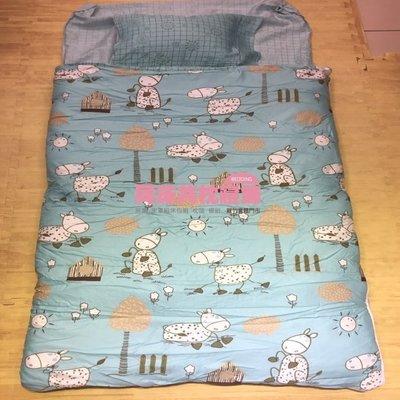 §同床共枕§ TENCEL100%天絲萊賽爾纖維 冬夏鋪棉兩用兒童睡袋120x150cm-歡樂農場  附原廠收納提袋