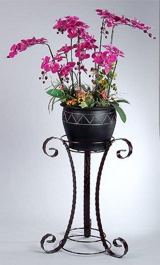 ☆成志金屬☆E-7古銅色大花架,花器架,表面處理為有層次感的厚重皺紋烤漆,穩重內斂。