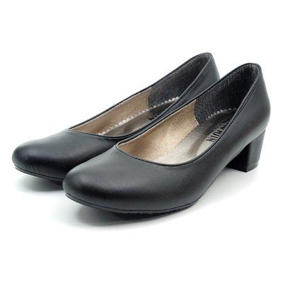 ❤含運 ❤│鞋念 美人館 MITOL最愛系列.簡約高質感圓頭粗跟美鞋-黑色 36-38碼【800-03】