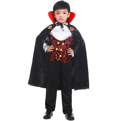 萬圣節Cosplay兒童男服裝吸血鬼披風派對扮演服飾道具