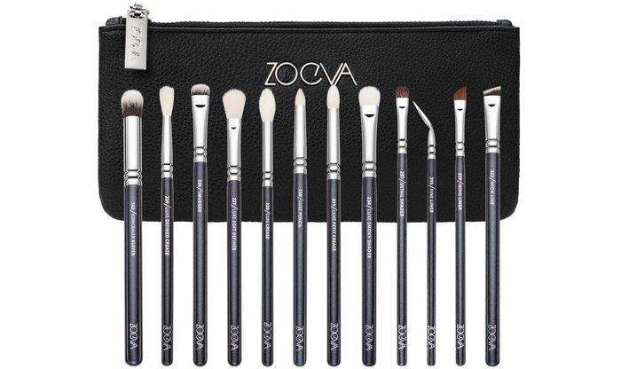 【愛來客】德國 ZOEVA 12 BRUSHES+CLUTCH COMPLETE EYE SET 12件限量黑色眼部刷具