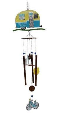 12509c 歐洲製造 好品質 限量品 復古做舊露營車拖車腳踏車 吊飾墜民宿門掛鈴擺飾品擺件風鈴掛飾牆壁上室內外掛鈴禮品