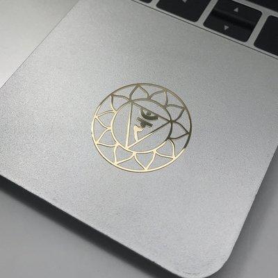 手機貼紙 金屬貼七脈輪 臍輪能量金屬貼 圖騰靈性符號手機貼紙 瑜伽療愈