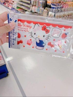 現貨 日本帶回 三麗鷗正品 Kitty 口罩收納套 口罩收納袋 夾鏈袋 拉鍊袋 萬用袋  小物收納袋
