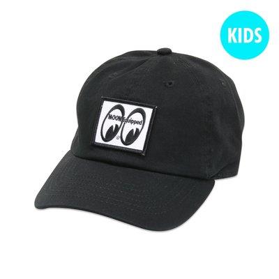 (I LOVE樂多)MOONEYES 方形眼睛布標 兒童6分割帽子[ MQCC020BK ]