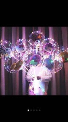 LED波波球 告白氣球 裝飾LED燈線 三顆三號的電池盒常亮 閃爍 三米長30燈 彩燈款(不包含氣球 桿子)