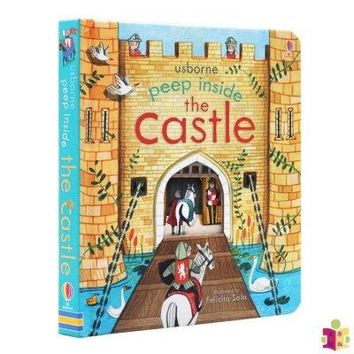 [文閲原版]偷偷看里面 城堡 英文原版 Peep Inside a Castle 洞洞翻翻紙板書 科普繪本 Usborn