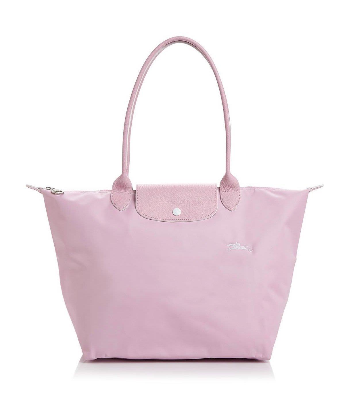 Coco小舖 Longchamp Le Pliage Club Large Shoulder Tote 大款粉紅色
