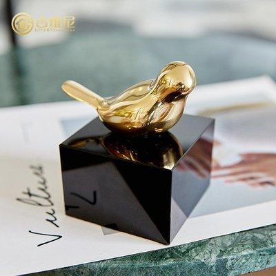 〖洋碼頭〗銅小鳥書櫃酒櫃客廳創意桌面動物擺件裝飾品歐式美式樣板間擺設 jwn584