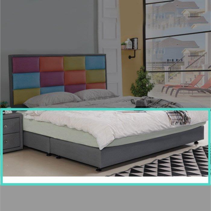 【DH】商品貨號N580-7商品名稱《西雅圖》5尺灰色貓抓皮雙人床底(圖一)台灣製可訂做.腳高6CM備有腳高13CM可選
