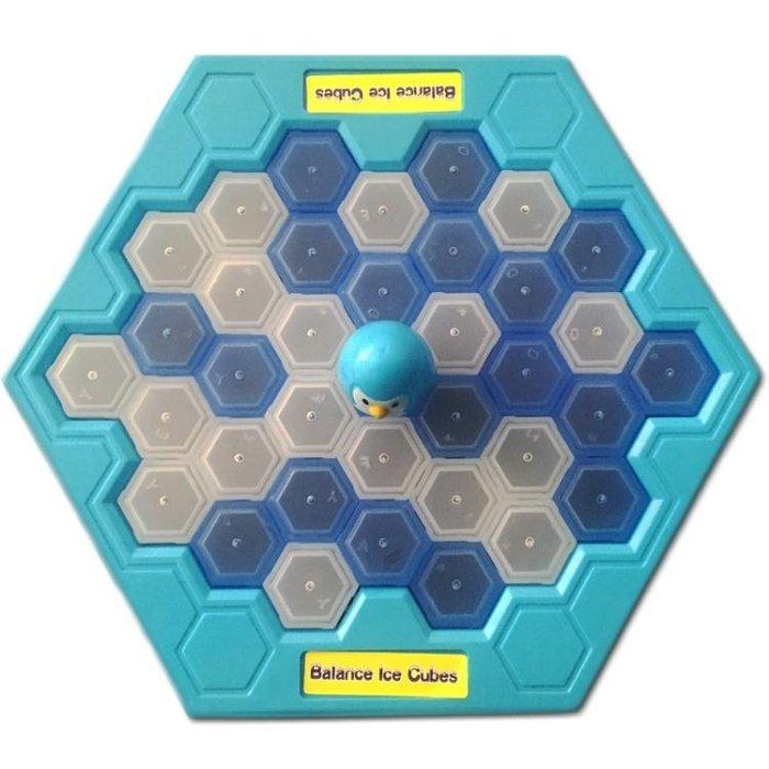 拯救企鵝敲打企鵝冰塊積木桌面遊戲親子互動益智玩具