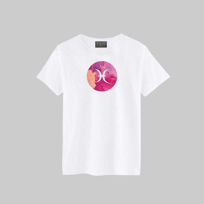 T365 雙魚座 十二星座 星座 圓形 漸層 抽象 T恤 男女皆可穿 多色同款可選 短T 素T 素踢 TEE 短袖 上衣