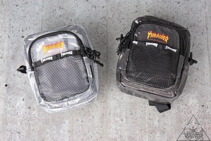 【HYDRA】Thrasher Mesh Sholder Bag 火焰 字體 腰包 小包 單肩包【TS55】