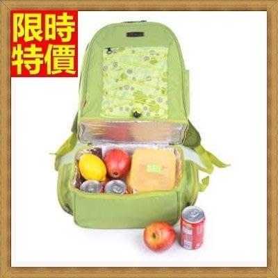 野餐包 2人餐具組 單肩斜背包-野外出遊亮眼清新綠上下雙層大容量野餐包 68ag45[獨家進口][米蘭精品]