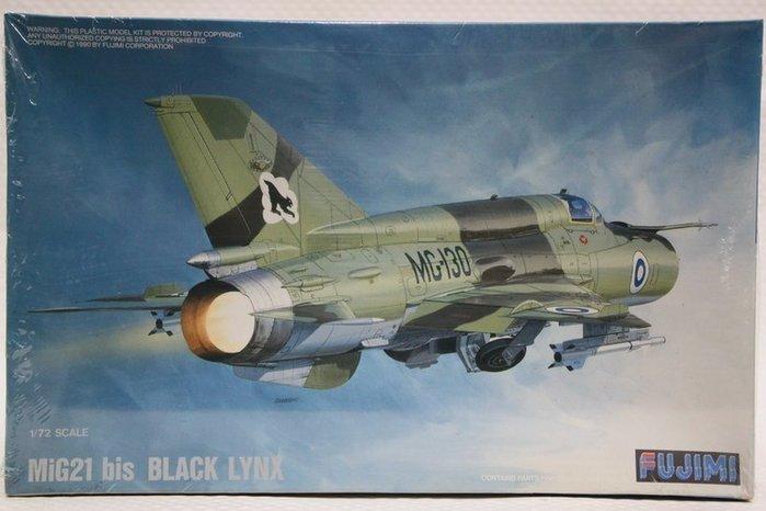 ~統一模型~FUJIMI~米格21戰鬥機MIG~21 bis BLACK LYNX~1:7