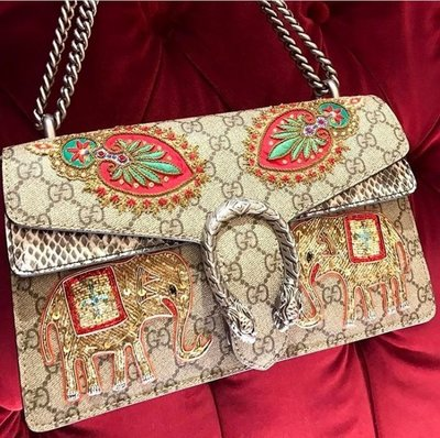 Gucci 429037 Techpack with embroidery 老虎後背包 黑