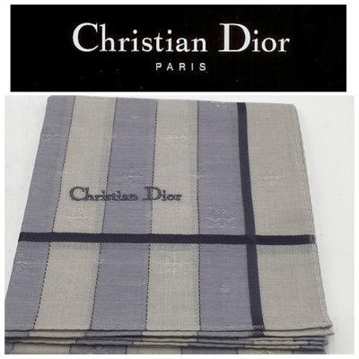 【皮老闆二店】新古真品 Christian Dior 手帕 綿100% 50*50 狀況不錯 C536