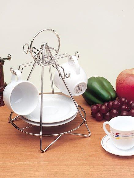 ☆成志金屬☆S-311-1A不鏽鋼四杯咖啡杯架盤架,精巧設計~收納玩賞兼俱,咖啡達人必備精品
