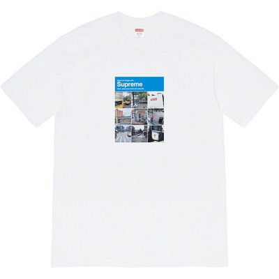Supreme 20FW Verify Tee九宮格街景驗證碼照片短袖T恤男女情侶潮