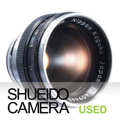 集英堂写真機【3個月保固】中古良上品 / NIKON 5cm 50mm F1.4 鏡頭 黑 S接環 16349