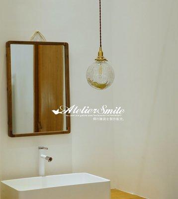 [ Atelier Smile ] 鄉村雜貨 日本直送 復古黃銅 手工球型玻璃吊燈 純銅製配件 民宿 咖啡廳  # 免運