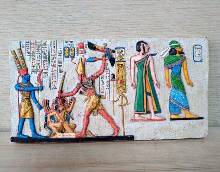 點點蘑菇屋 歐洲進口 埃及慶典岩磚壁飾 壁掛 掛飾 古埃及文明 埃及古文 圖騰 精緻飾品 Egypt藝術品 現貨