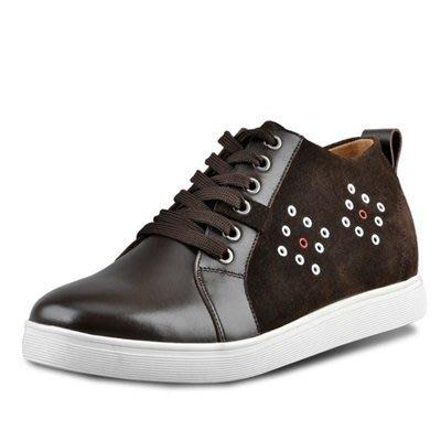 增高 鞋 真皮 皮鞋-時尚個性街頭休閒男鞋子2色73pd56[獨家進口][米蘭精品]