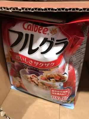 (405元)COSTCO好市多代購CALBEE卡樂比富果樂水果麥片/早餐脆片(1公斤)