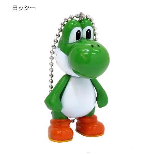 (I LOVE樂多)日本輸入Mario Bros(瑪利歐兄弟)耀西Yoshi 手腳可動珠鍊吊飾