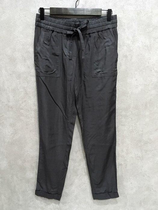 Maple麋鹿小舖 美國品牌LOFT  * 深灰色綁帶休閒長褲* ( 現貨XS號 )