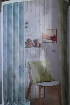 台中窗簾-MIT印花系列復古樹葉花 三明治遮光窗簾布-1