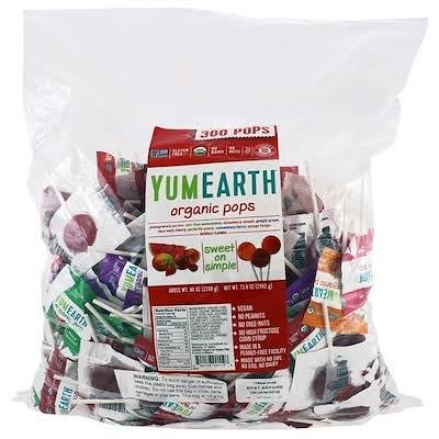 YumEarth (Yummy Earth) 什錦&維他命C 棒棒糖量販包300+支