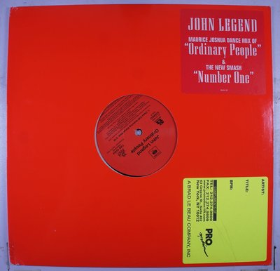 《二手美版單曲黑膠》John Legend – Ordinary People